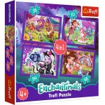 TREFL Puzzle 4w1 Enchantimals 34305
