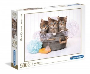 CLEMENTONI: Puzzle 500el. HQ- Kitties And Soap 35065