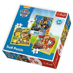 TREFL Puzzle 3w1 Psi Patrol: Marshall,Rubble and Chase 34839